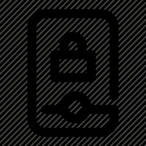 lock, locked, mobile, phone, security, smartphone icon