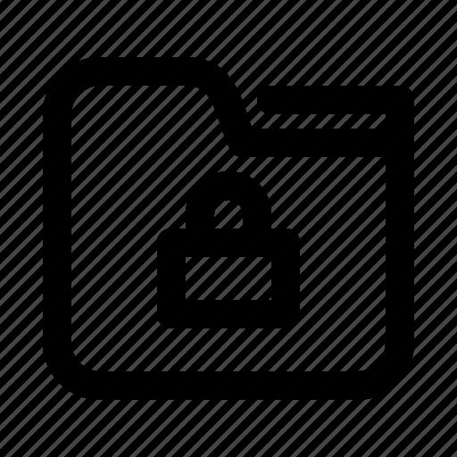 directory, documents, files, folder, lock, locked, secure icon