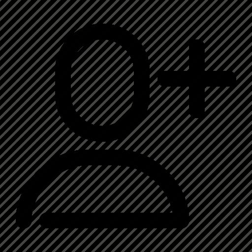 account, add, new, person, profile, shape, user icon