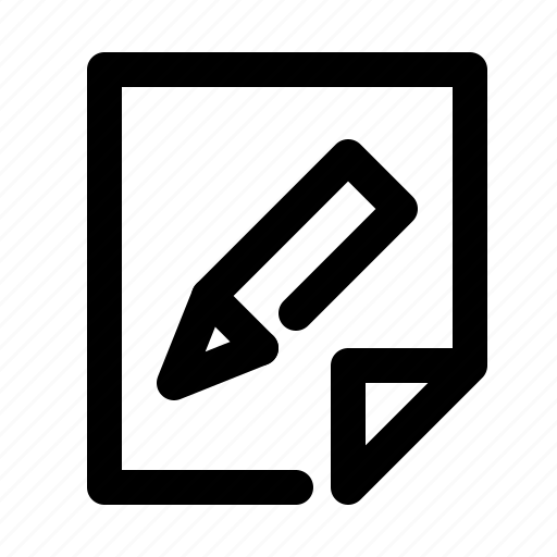 document, edit, file, paper, pen, pencil, text icon