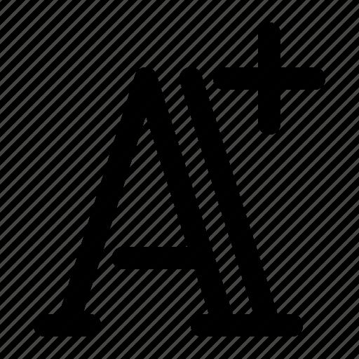 enlarge, font, larger, letter icon