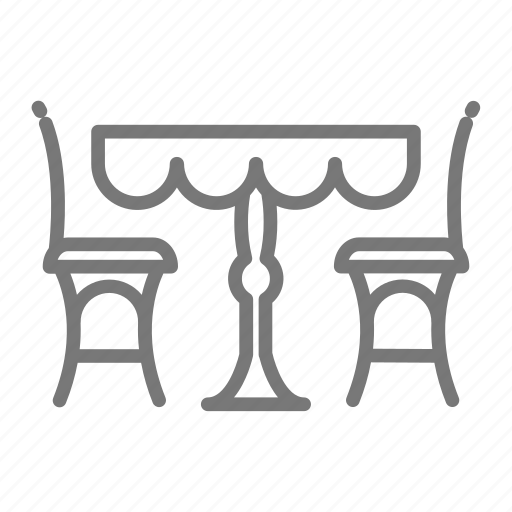 Cafe Chairs Outdoor Restaurant Seating Table Icon