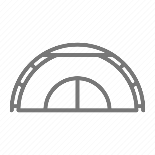 camp, frame, outdoors, tent, travel icon