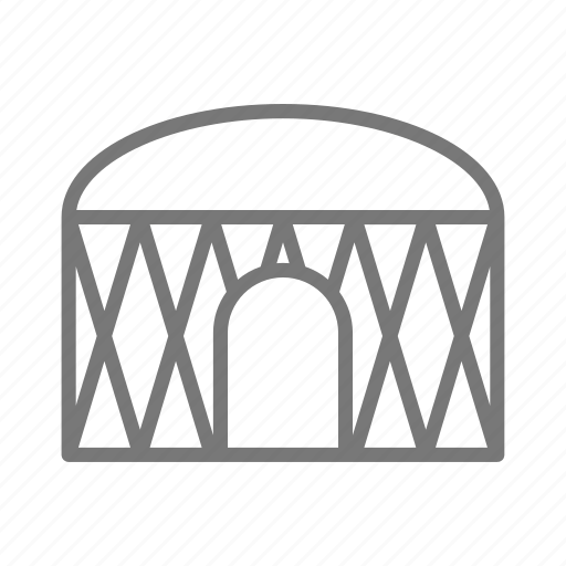 frame, home, house, outdoors, tent, yurt icon