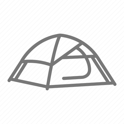 camp, camping, door, frame, outdoor, tent icon