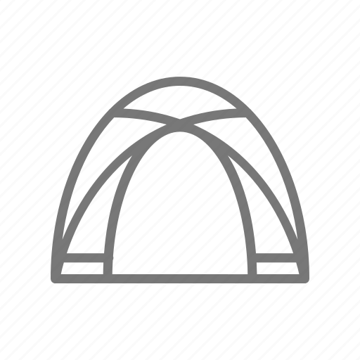 camp, frame, outdoor, tent, travel icon