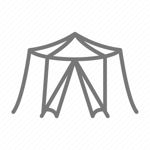 camp, circus, door, event, frame, outdoor, tent icon