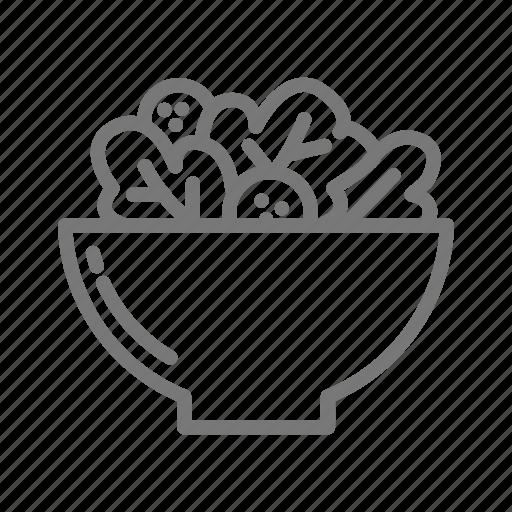 bowl, dinner, salad, thanksgiving icon