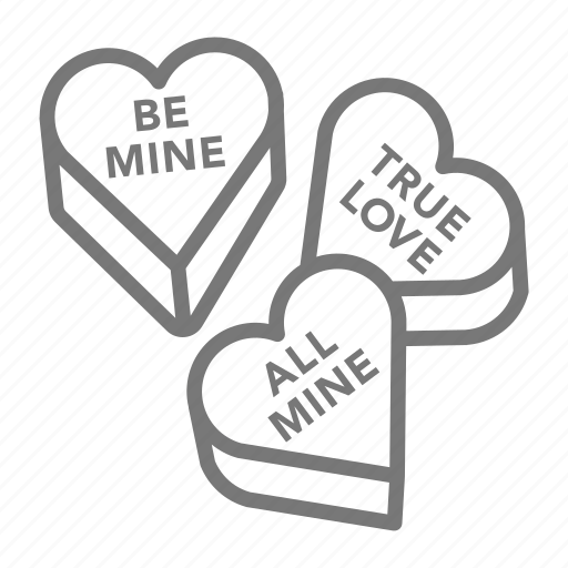 candy, hearts, valentine icon