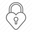 heart, lock, padlock, valentine icon
