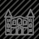 art, castle, dc, institution, renwick, smithsonian, washington icon