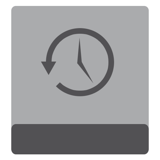 hdd, timemachine icon