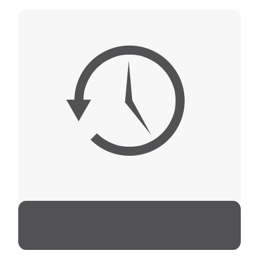 hdd, timemachine, white icon