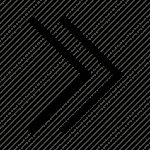 arrow, double, minimalist icon