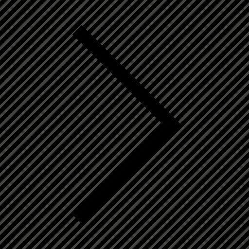 arrow, minimalist icon