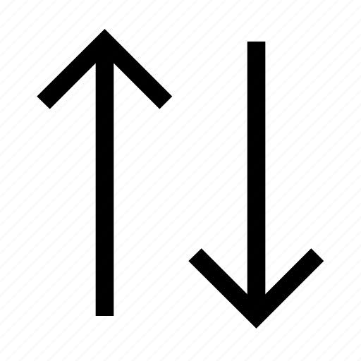 and, arrow, arrows, down, minimalist, up icon