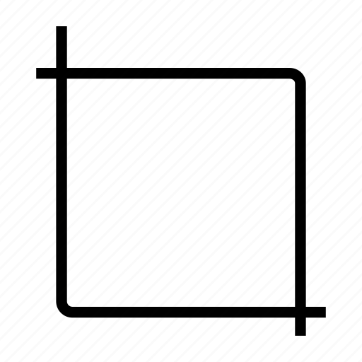 crop, cut, edit, expand icon