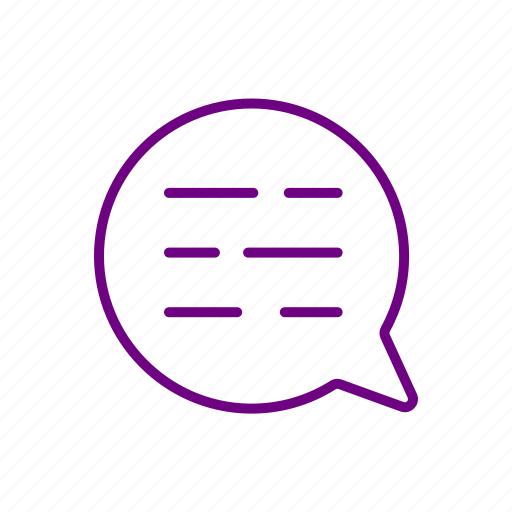 chat, message, talk, text icon