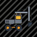 excavator, mining, truck, vehicle, heavy icon