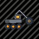 crusher, mining, truck, vehicle, heavy icon