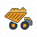 mining, dump truck, truck, vehicle, heavy icon