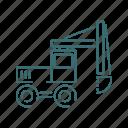 truck, vehicle, excavator, heavy, mining icon