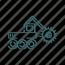 truck, vehicle, heavy, crusher, mining icon