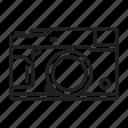 camera, compact, interchangable, lens, mirrorless icon