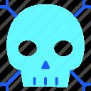 bone, bones, death, halloween, head, scary, skull