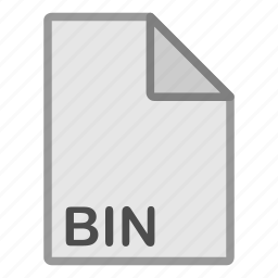 bin, extension, file, format, hovytech, misc, type icon