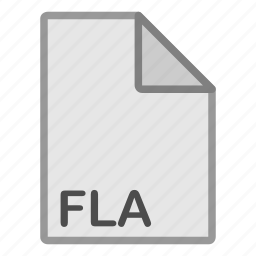 extension, file, fla, format, hovytech, misc, type icon