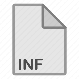 extension, file, format, hovytech, inf, misc, type icon