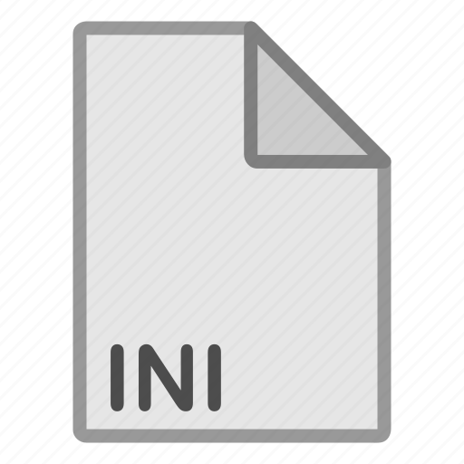 extension, file, format, hovytech, ini, misc, type icon