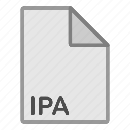 extension, file, format, hovytech, ipa, misc, type icon