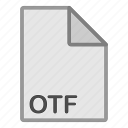 extension, file, format, hovytech, misc, otf, type icon