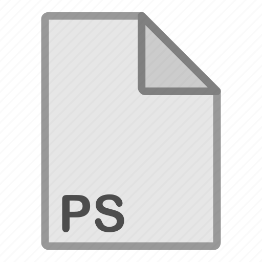 extension, file, format, hovytech, misc, ps, type icon