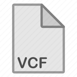 extension, file, format, hovytech, misc, type, vcf icon