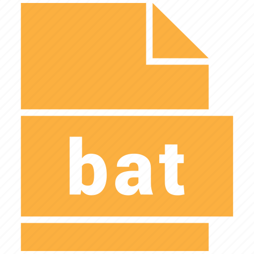 bat, misc file format icon