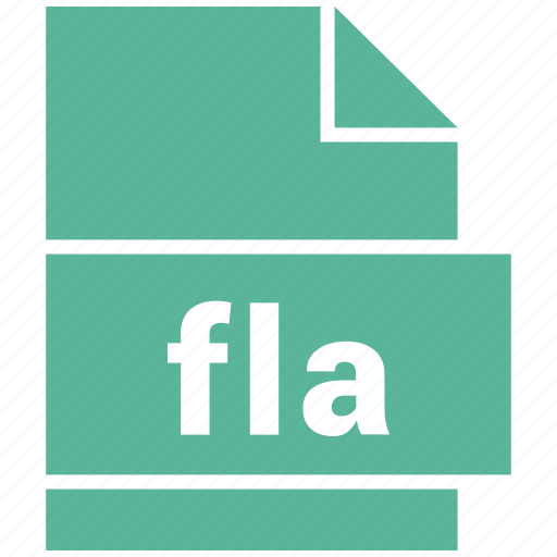 file, fla, format, misc file format icon