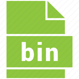 bin, extension, file, file format, misc file format icon