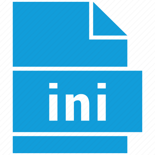 ini, misc file format, windows initialization file icon