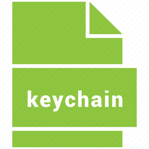keychain, misc file format icon