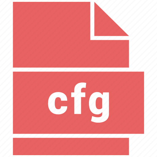 cfg, misc file format icon