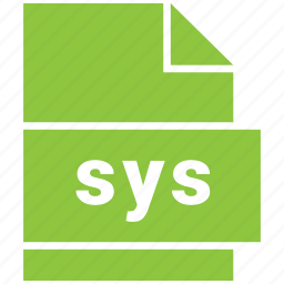 misc file format, sys icon