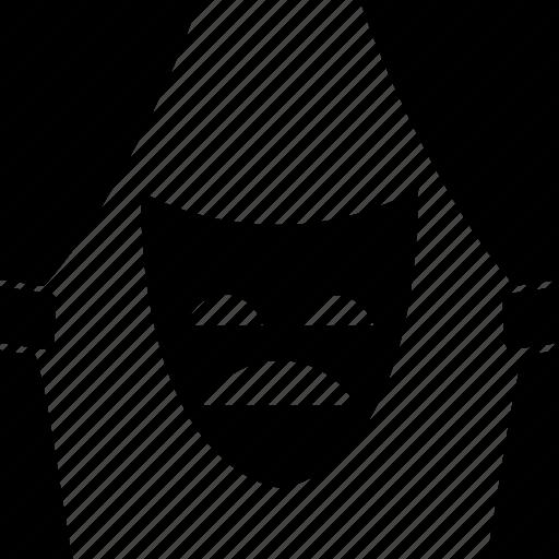 curtains, decoration, drama, fabric, mask, sad, theatre icon