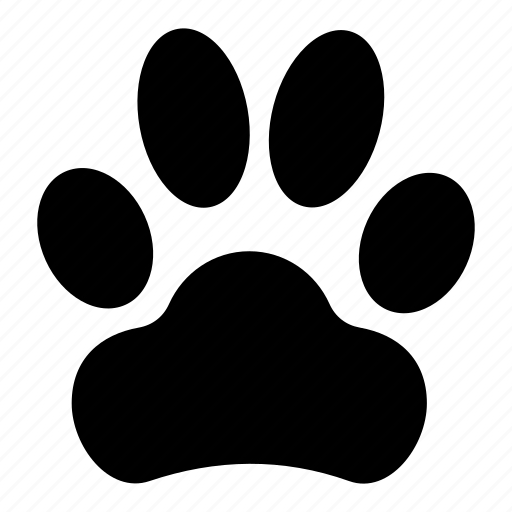 Animal Tracks Dog Dog Paw Paw Print Icon