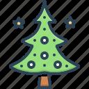 celebration, christmas tree, decoration, evergreen, holiday, tree, winter icon