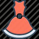 cloth, costume, dress, fashion, fashionable, female, formal icon