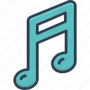 classical, clef, entertainment, melody, music, note, sound icon