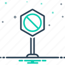 forbidden, neither, not, not at all, sign icon